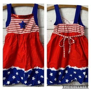 EUC Dollie & Me Patriotic Fourth Of July Dress